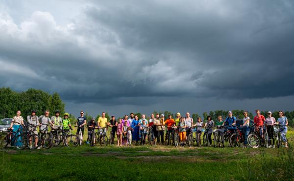 Молодёжь Липецкой епархии - участники велопаломничества
