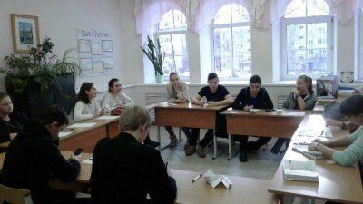 9 февраля состоялась встреча заместителя председателя епархиального отдела по работе с молодежью с активом Российского движения школьников и студентами Касимовских СУЗов