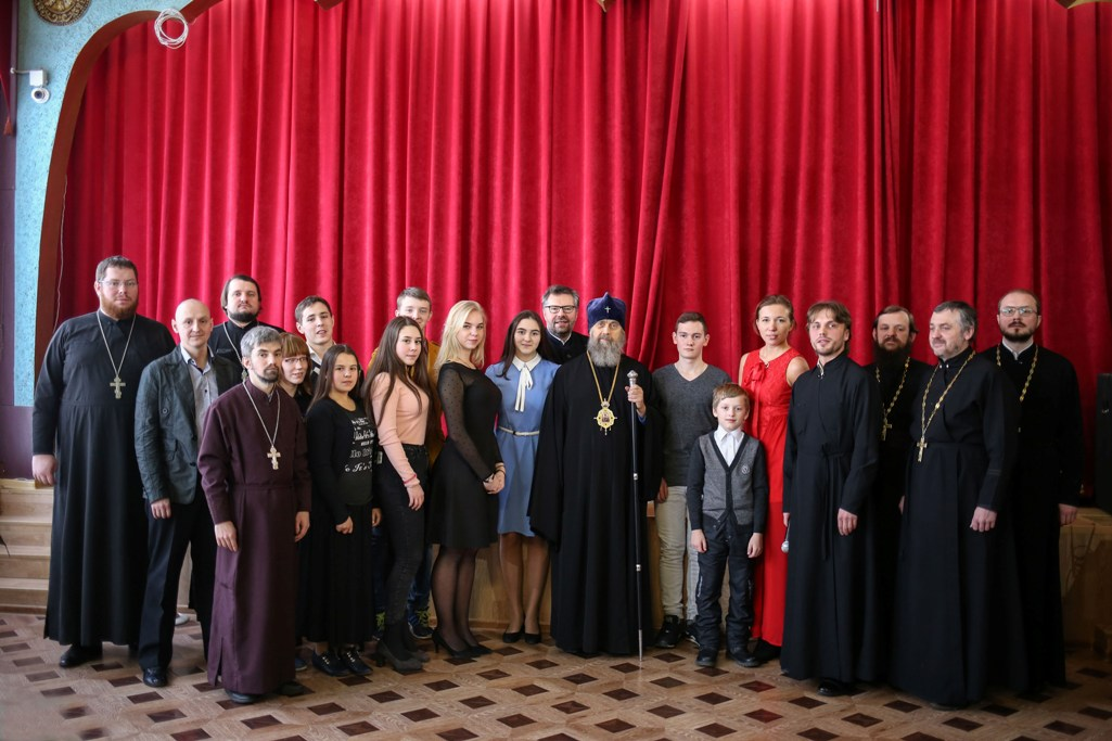 7 февраля в Кимовске состоялась беседа Митрополита Тульского и Ефремовского Алексия с учащимися общеобразовательных школ