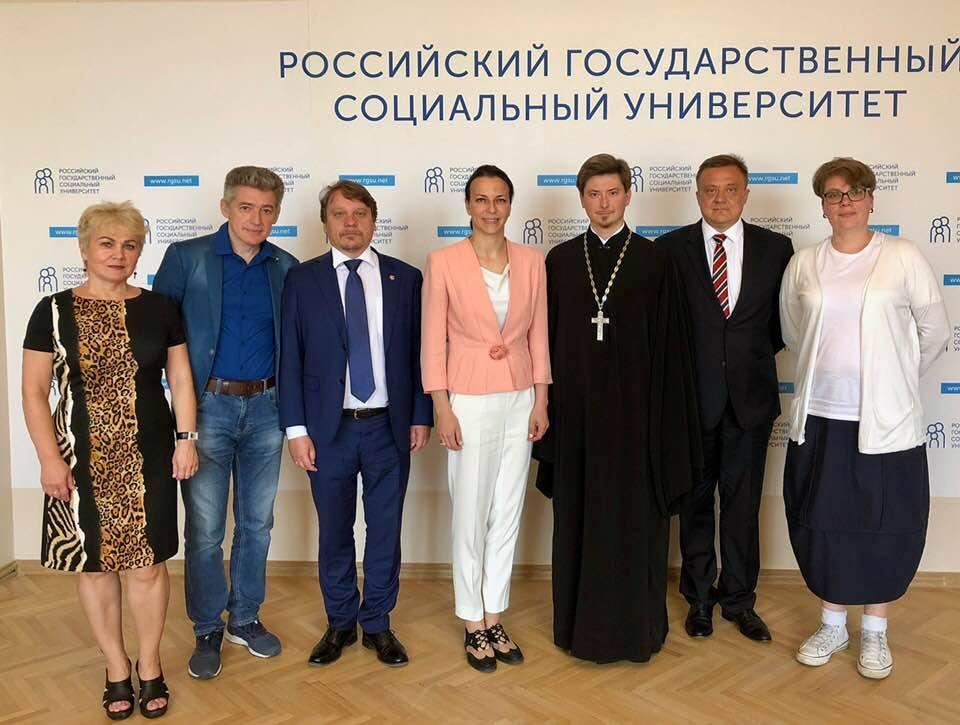 7 августа состоялась рабочая встреча председателя Синодального отдела по делам молодежи с ректором РГСУ