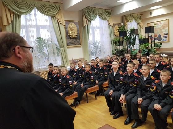 Духовник отдела по делам молодёжи Екатеринбургской епархии  провел лекторий о полководце для юных воспитанников Суворовского училища