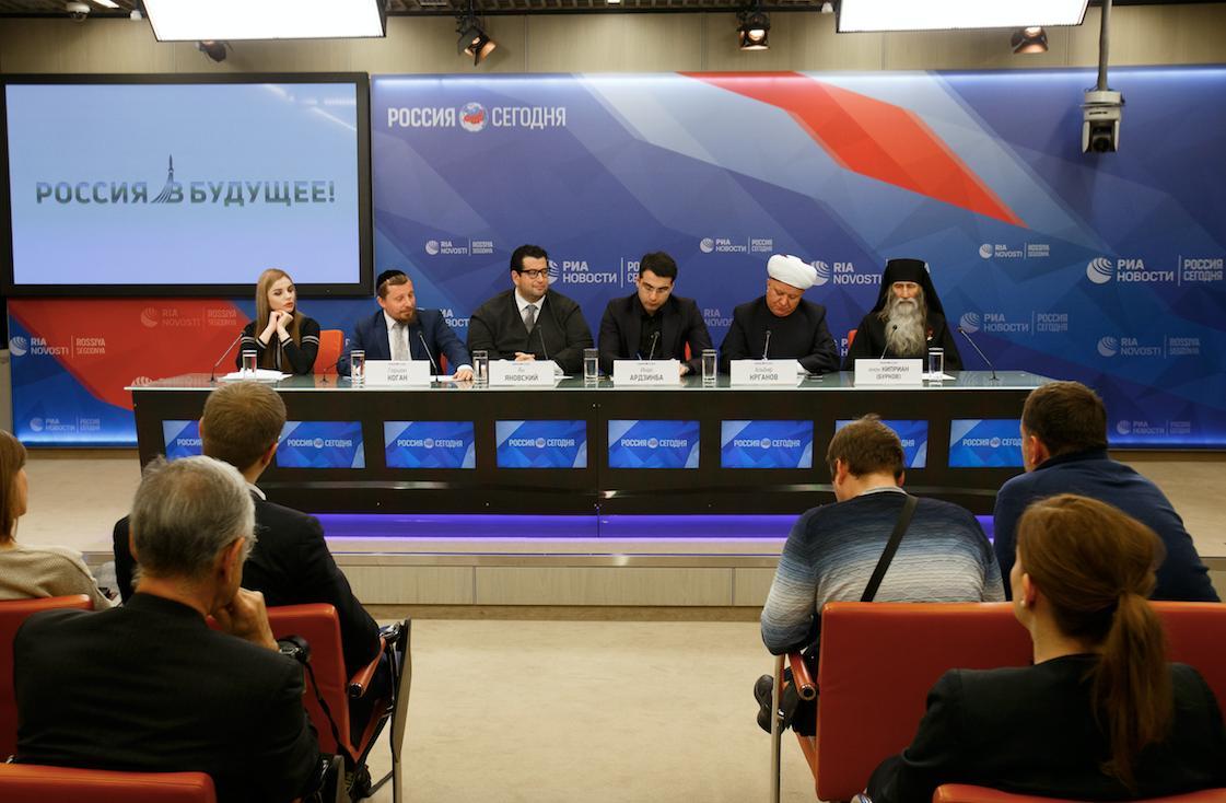 И.о. руководителя сектора по работе с подростками инок Киприан (Бурков) принял участие в пресс-конференции в МИА «Россия сегодня»