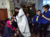Московские православные следопыты посетили дома престарелых в Тверской области
