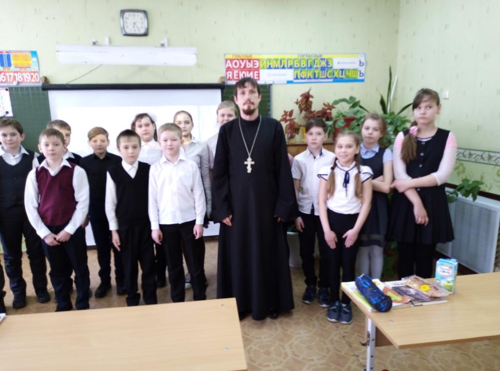 14 марта, в День православной книги, состоялся урок для учеников 4В класса Средней общеобразовательной школы №26 города Кургана: «Сначала «аз» и «буки», а потом науки»