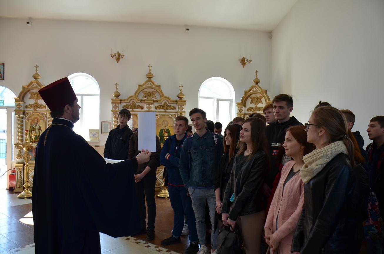 Благовещение Пресвятой Богородицы – тема встречи священнослужителя со студентами Кубанского казачьего государственного института пищевой индустрии и бизнеса